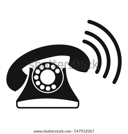 Retro phone icon. Simple illustration of retro phone  icon for web