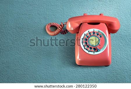 Retro Phone vintage - stock photo