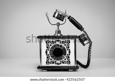 retro phone, vintage, isolated,call, old