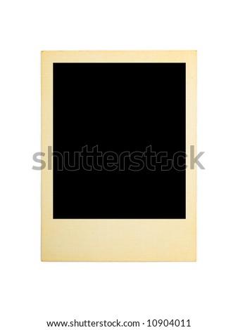 Retro photo card, isolated on white background - stock photo