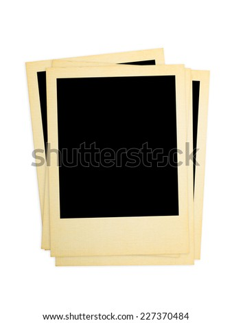 Retro photo cards isolated on white background - stock photo