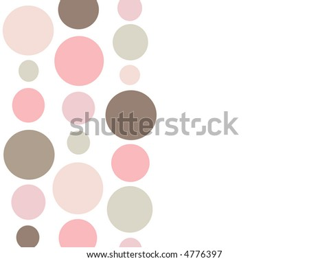Retro pink and brown circles background