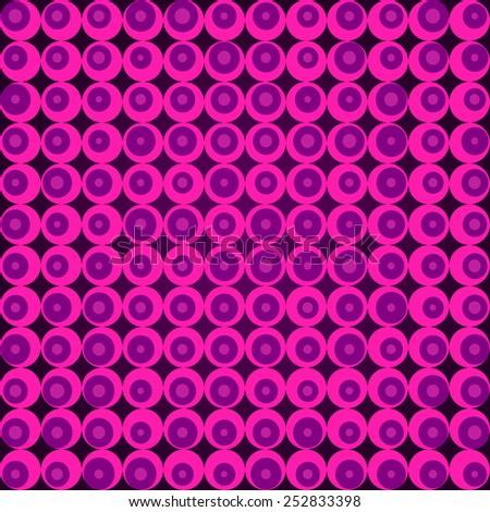Retro pink pop art seamless raster background - stock photo