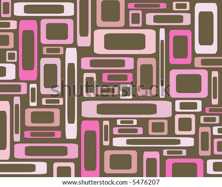 Retro pink rectangles against brown background