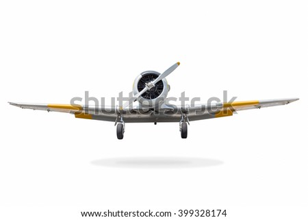 Retro plane isolated on white background with clipping path