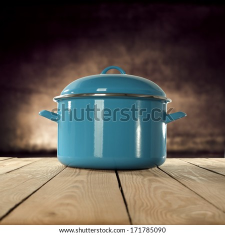 retro pot  - stock photo