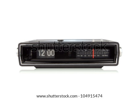 Retro radio - stock photo