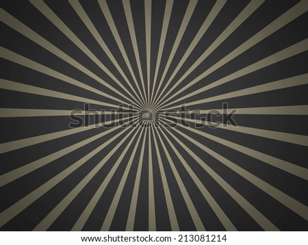 Retro Rays of Background - stock photo