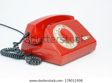 Retro rotary phone - stock photo