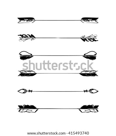 Retro scribble hand-drawn dividers set black collection