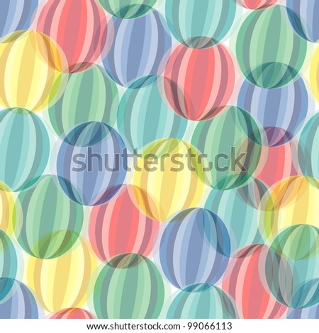 Retro seamless background with multicolor vivid circles