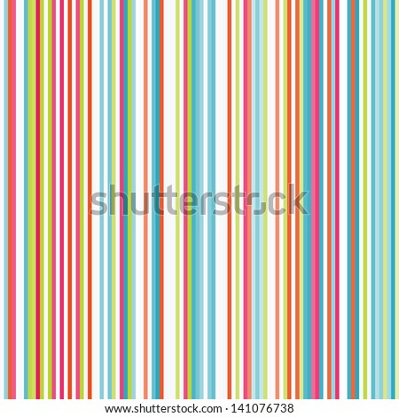 Retro seamless stripe pattern with stylish colors