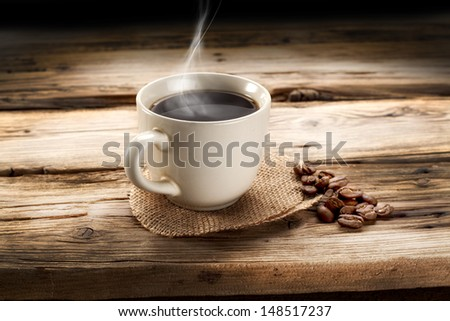 retro shabby coffee