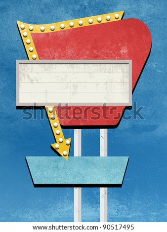 Retro Sign Design - stock photo