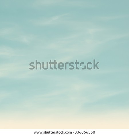 retro sky with soft cloud background - stock photo