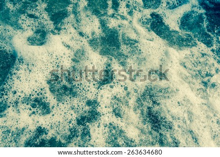 Retro soft sea wave background. - stock photo