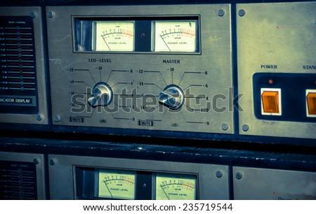 Retro Sound controller ,vintage filtered. - stock photo