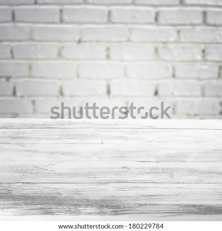 retro space of wall and desk  - stock photo