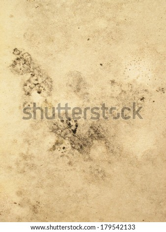 Retro stained brown paper parchment for textural background