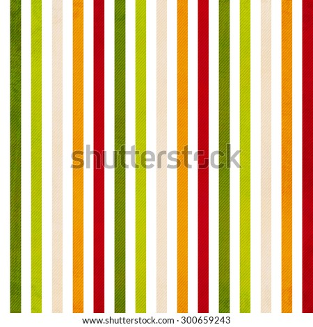 Retro stripe pattern - background with colored beige, red, yellow, green vertical stripes