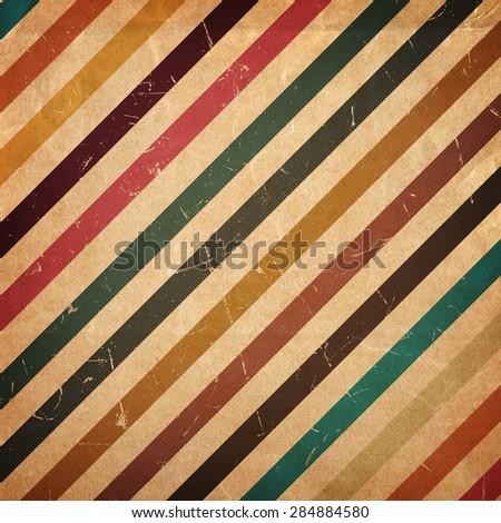 Retro stripe pattern vintage background - stock photo