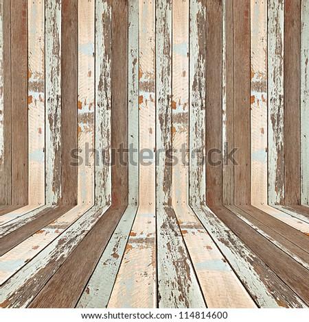 Retro striped wooden background - stock photo