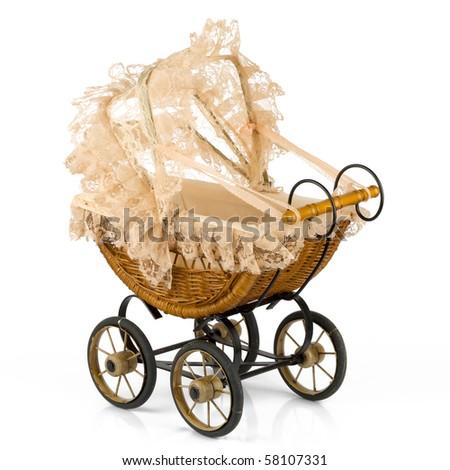 Retro stroller - stock photo