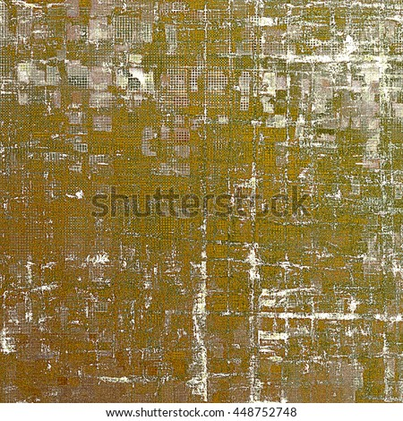Retro style abstract background, aged graphic texture with different color patterns: yellow (beige); brown; green; gray; white