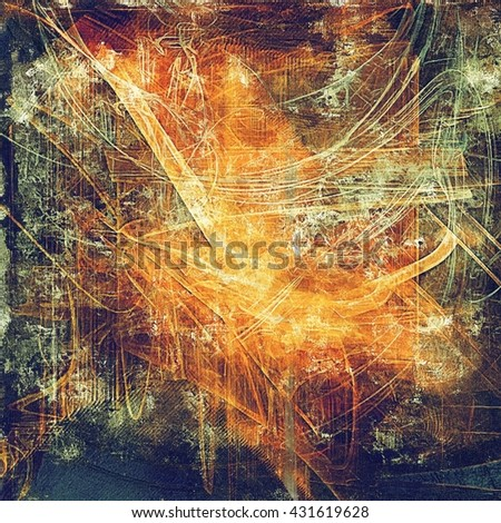 Retro style background with grungy vintage texture and different color patterns: yellow (beige); brown; green; blue; red (orange); purple (violet) - stock photo