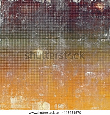 Retro style background with grungy vintage texture and different color patterns: yellow (beige); brown; gray; green; red (orange); white - stock photo