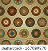 Retro-style background with seamless pattern - raster version - stock photo