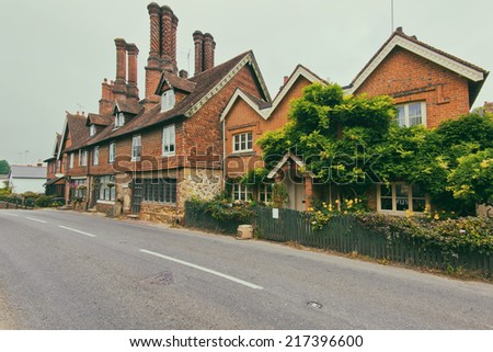 retro style english house