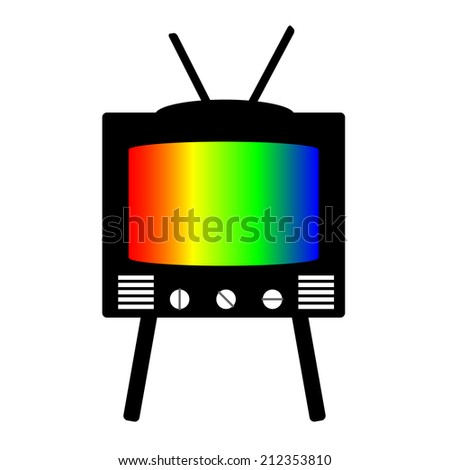 retro style tv on stand