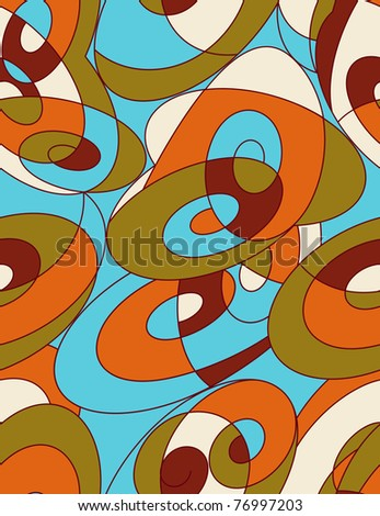 retro styled abstract pattern - stock photo