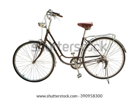 Retro styled bicycle isolated on a white background - stock photo