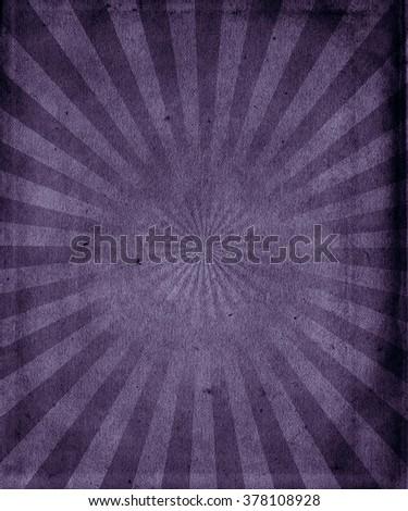 Retro sunbeams grunge background, old vintage poster - stock photo
