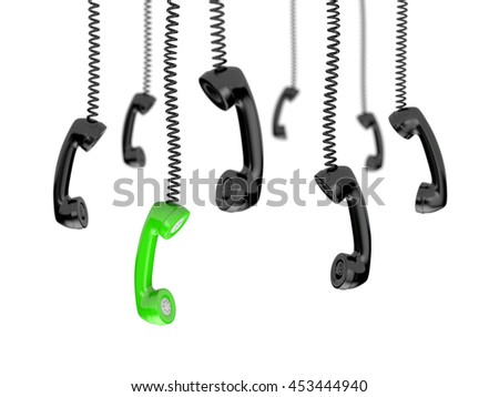 Retro telephone tubes - Getting a call. 3d illustration - stock photo