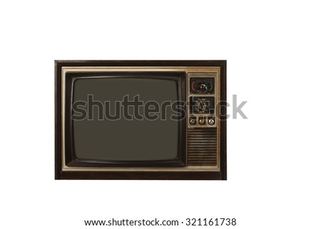 Retro television isolated over white background. You can put your design here - stock photo