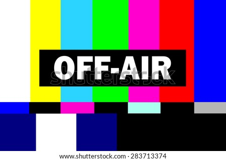 retro television test pattern with off air message - stock photo