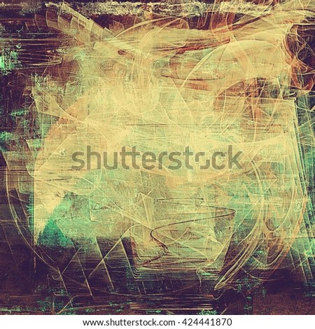 Retro texture, shabby and ragged background in grunge style. With different color patterns: yellow (beige); brown; green; red (orange); gray; purple (violet) - stock photo