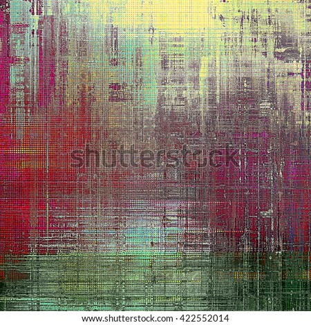 Retro texture used as abstract grunge background. Shabby backdrop with different color patterns: yellow (beige); green; gray; red (orange); pink; cyan - stock photo