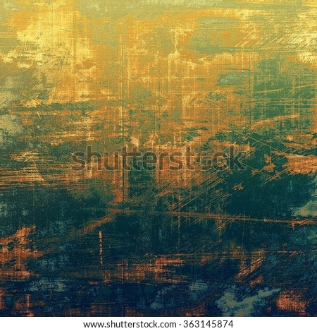 Retro texture. With different color patterns: yellow (beige); brown; blue; green - stock photo