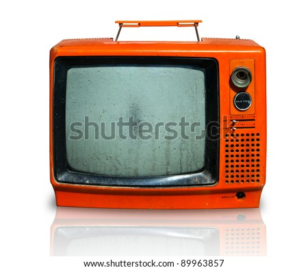 Retro, the old television - stock photo