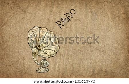 Retro theme illustration - stock photo