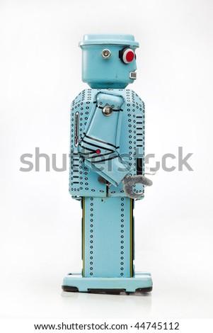 retro toy robot - stock photo