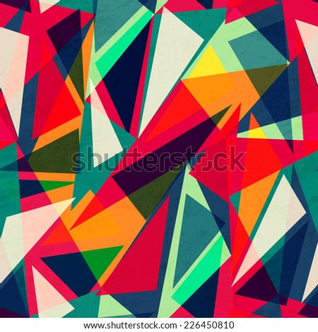 retro triangle seamless texture (raster version) - stock photo