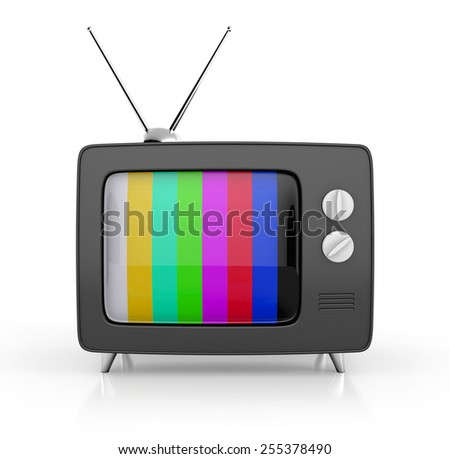 retro tv. 3d illustration - stock photo