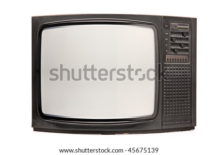 Retro TV isolated on white background