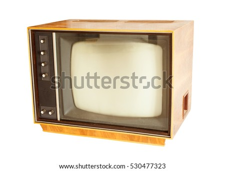 retro tv old style photo isolated