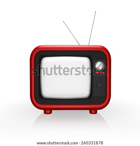 Retro TV ,  on a white background